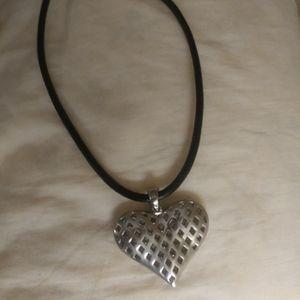 Tarnish-Free Heart Choker